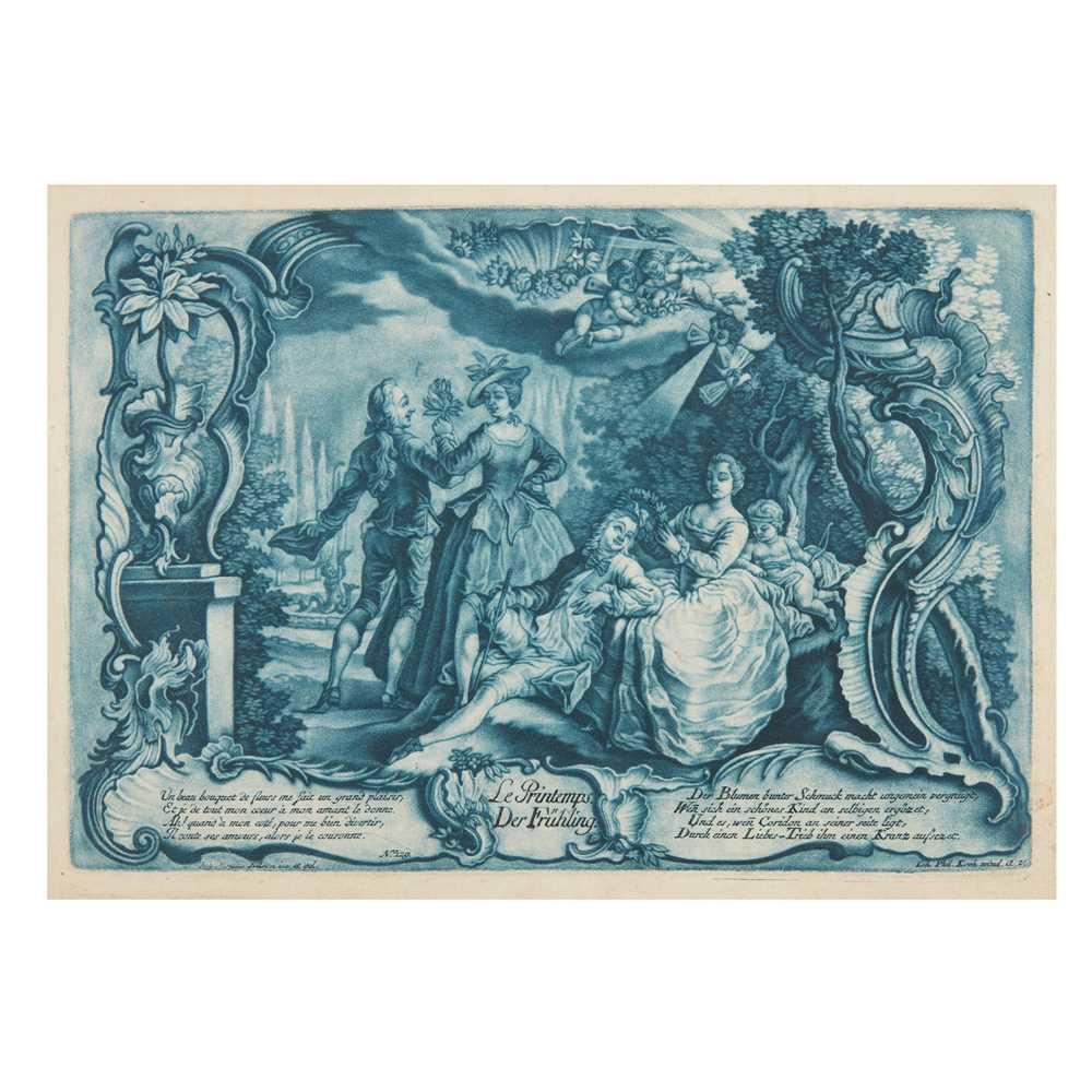 Nilson, Johann Esaias (1721-1788) The Seasons [Four Seasons:] Le Printemps/Der Frühling; L'Eté/Der - Image 3 of 4