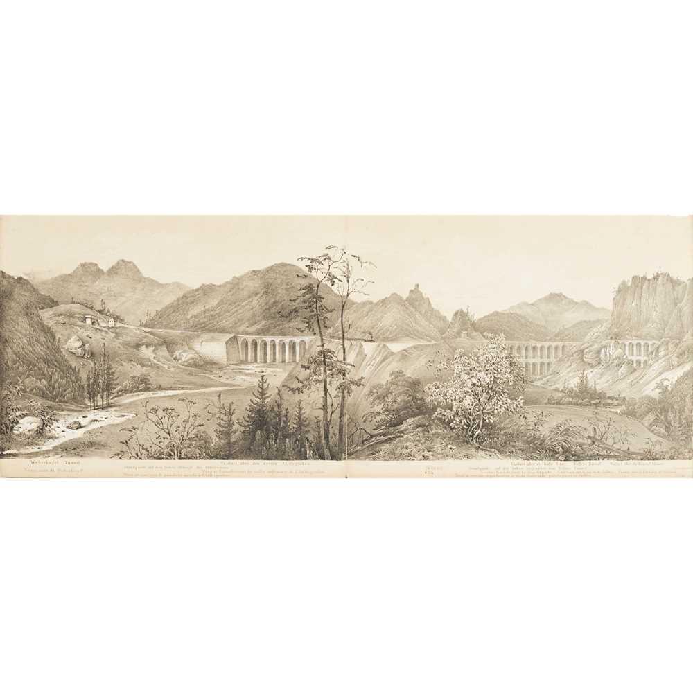 Alps, Austrian Railways, Panorama - Ghega, Karl Ritter von Malerischer Atlas der Eisenhabh über - Image 3 of 4
