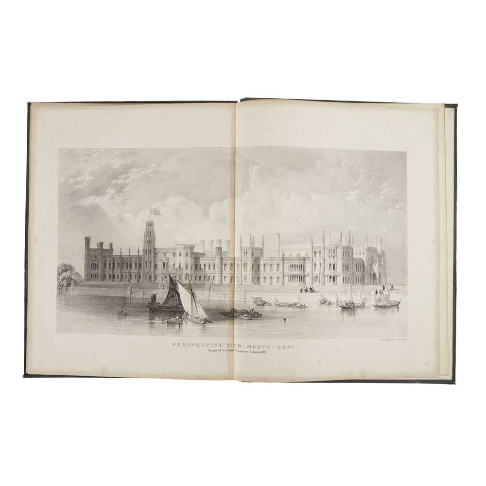Thompson, Peter Designs for the proposed New Houses of Parliament London: Peter Thompson, 1836. 4to,