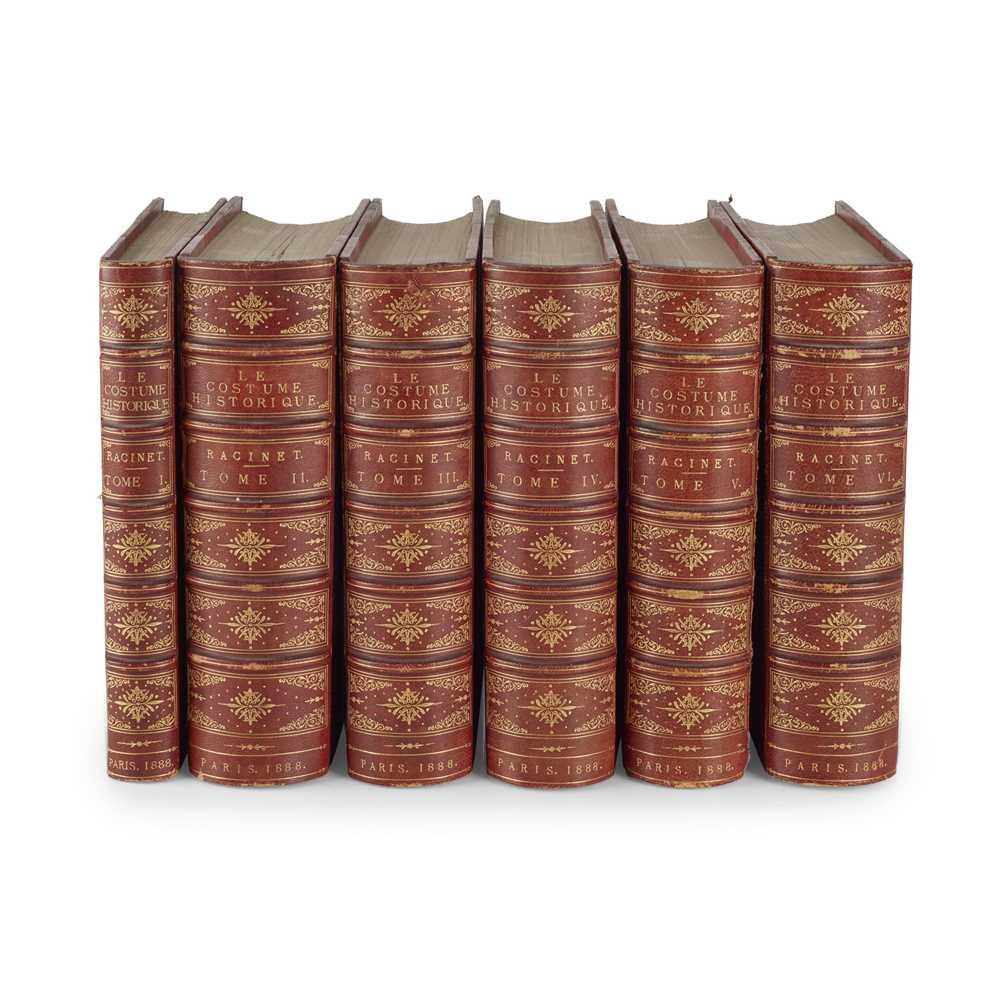 Racinet, Auguste Le Costume Historique Paris: Firmin-Didot et Cie., 1888. 6 volumes, 8vo, 472 of (