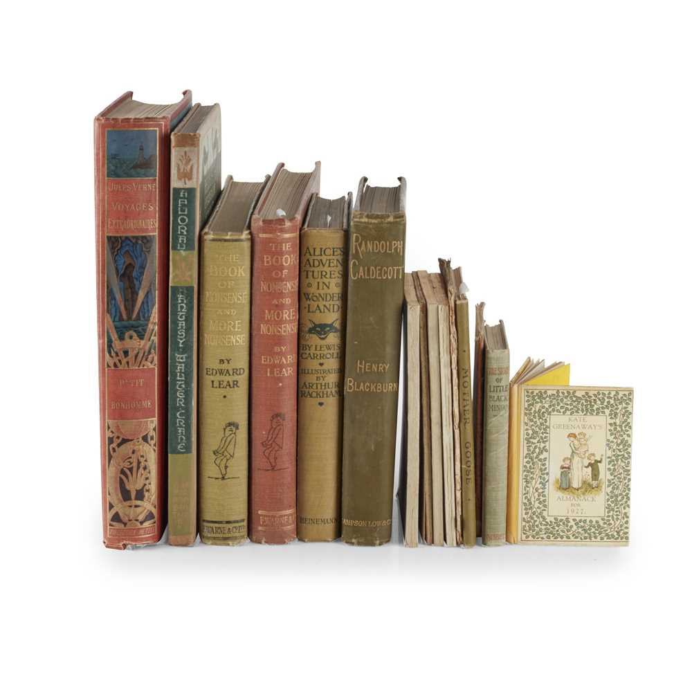 19th Century Children's Books including Lear, Edward. The Book of Nonsense and More Nonsense.