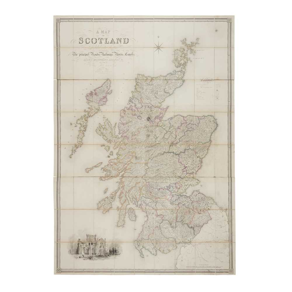 Carrington, F.A. & G.W. Carrington A Map of Scotland Divided into Counties Shewing the Principal