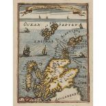 6 framed maps and 1 volume comprising Blaeu, Joan The Westerne Iles of Scotland. [Amsterdam, c.
