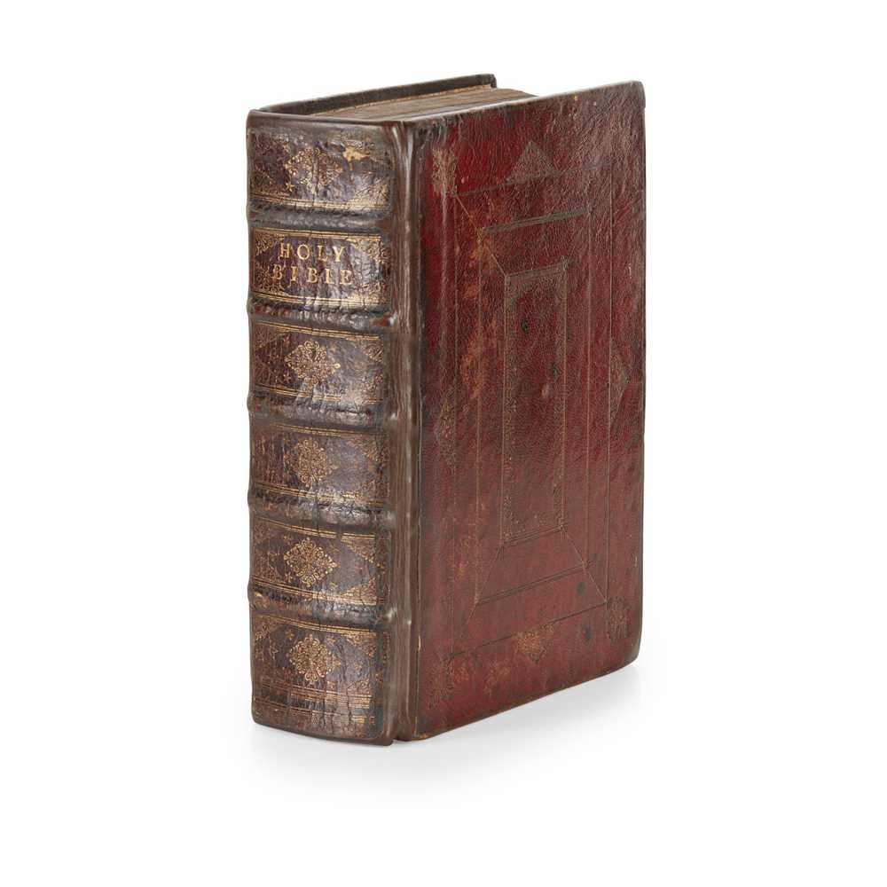Holy Bible London: Thomas Newcomb and Henry Hills, 1712 4to, 136 plates, [Herbert 917; ESTC T89271];