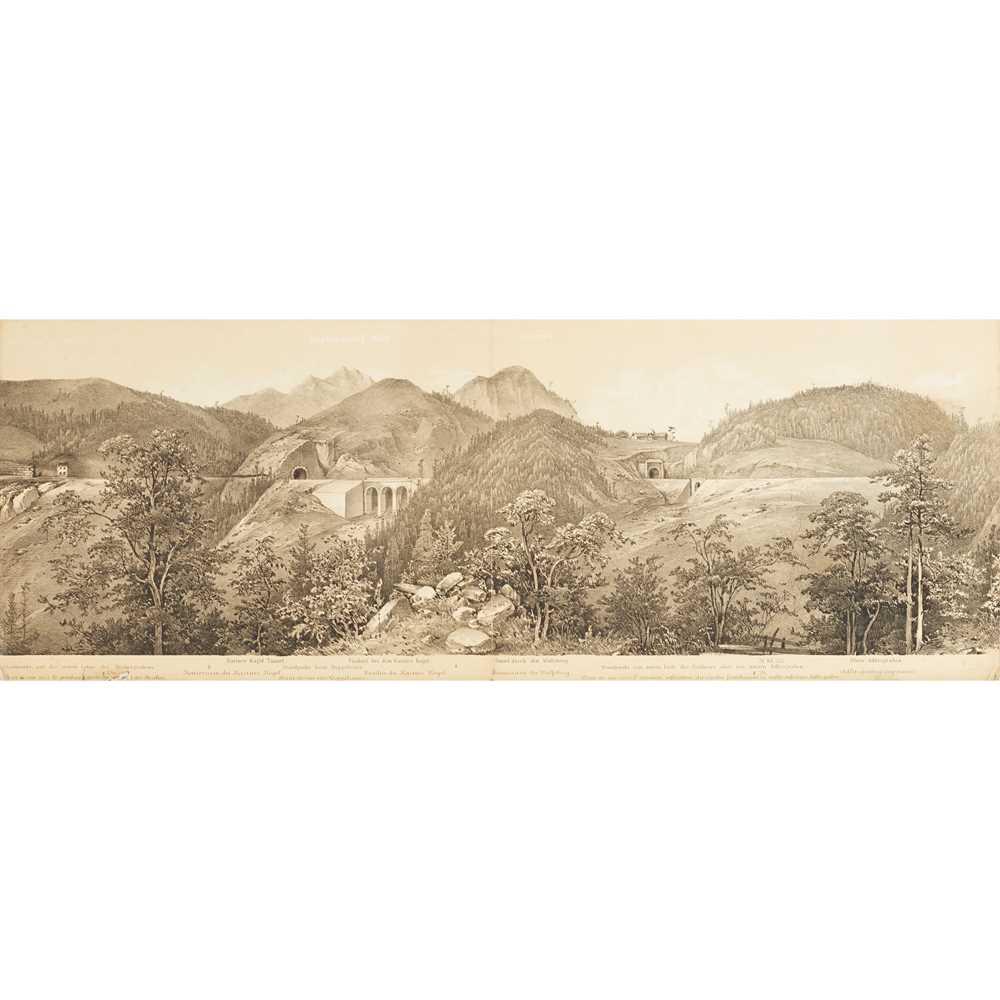 Alps, Austrian Railways, Panorama - Ghega, Karl Ritter von Malerischer Atlas der Eisenhabh über