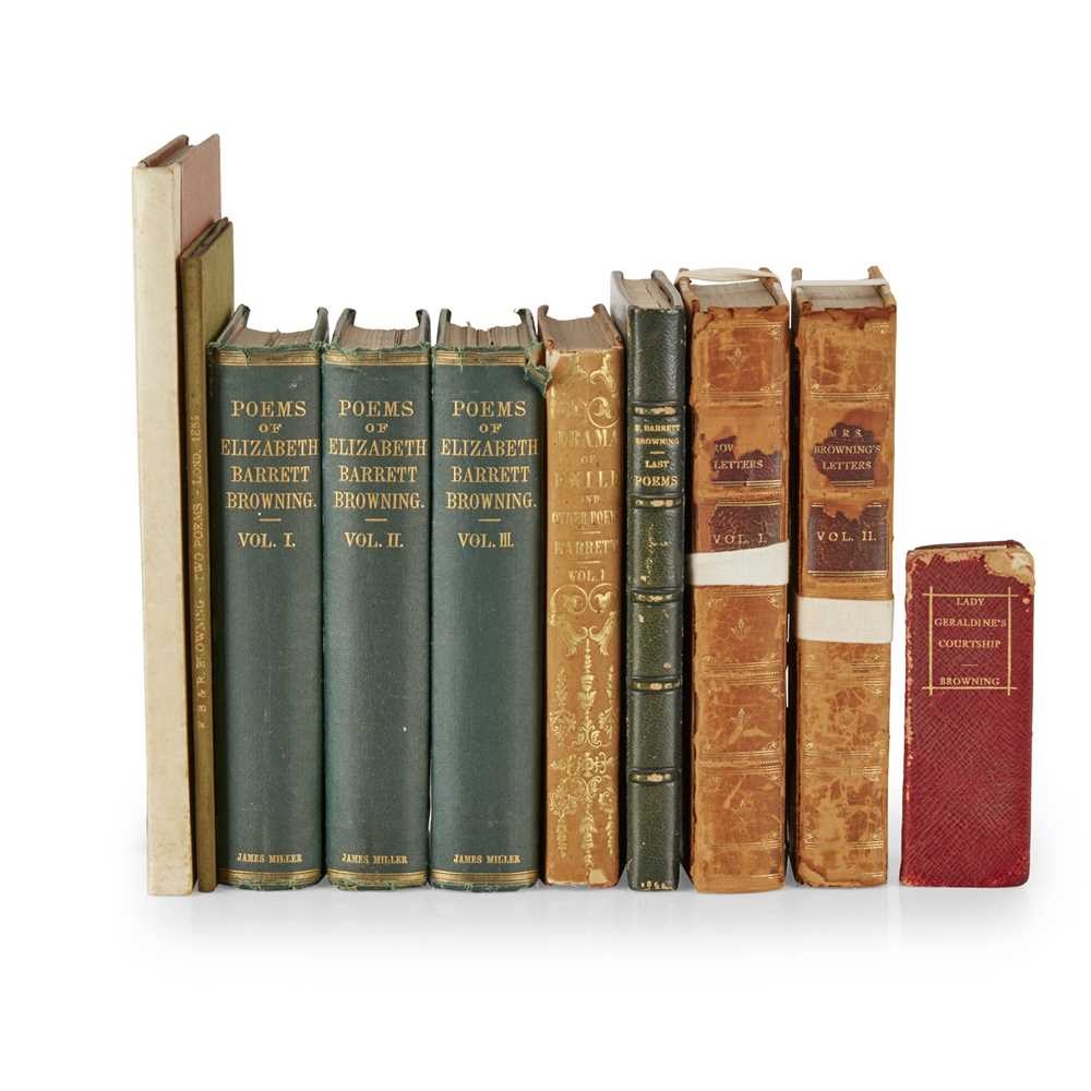 Browning, Elizabeth Barrett A collection of works, comprising A Drama of Exile. New York: Langley,