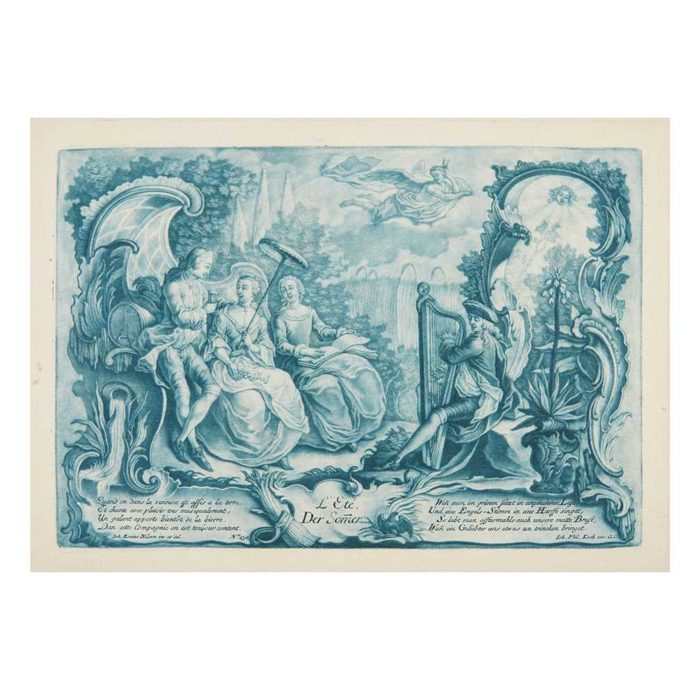 Nilson, Johann Esaias (1721-1788) The Seasons [Four Seasons:] Le Printemps/Der Frühling; L'Eté/Der - Image 4 of 4