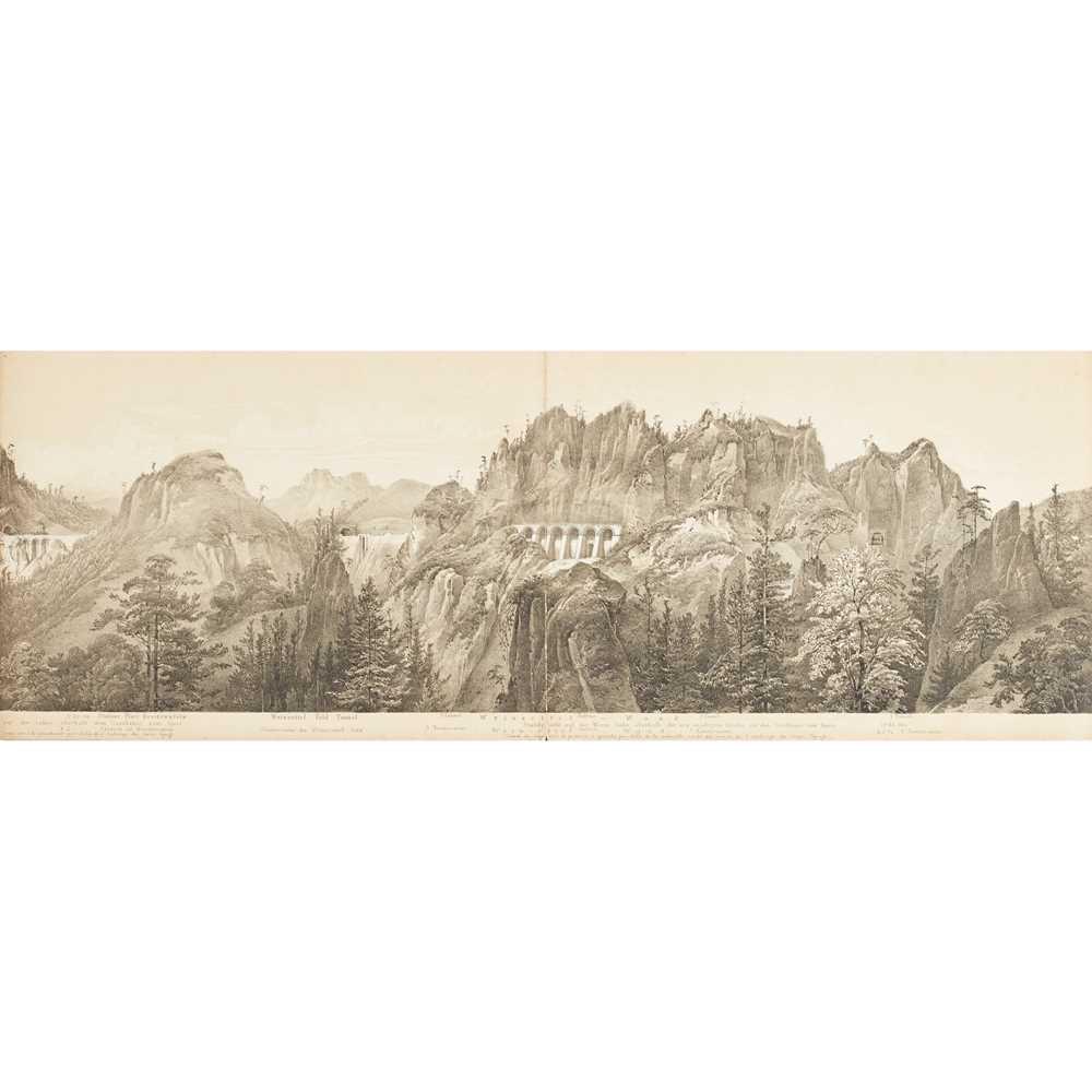 Alps, Austrian Railways, Panorama - Ghega, Karl Ritter von Malerischer Atlas der Eisenhabh über - Image 4 of 4