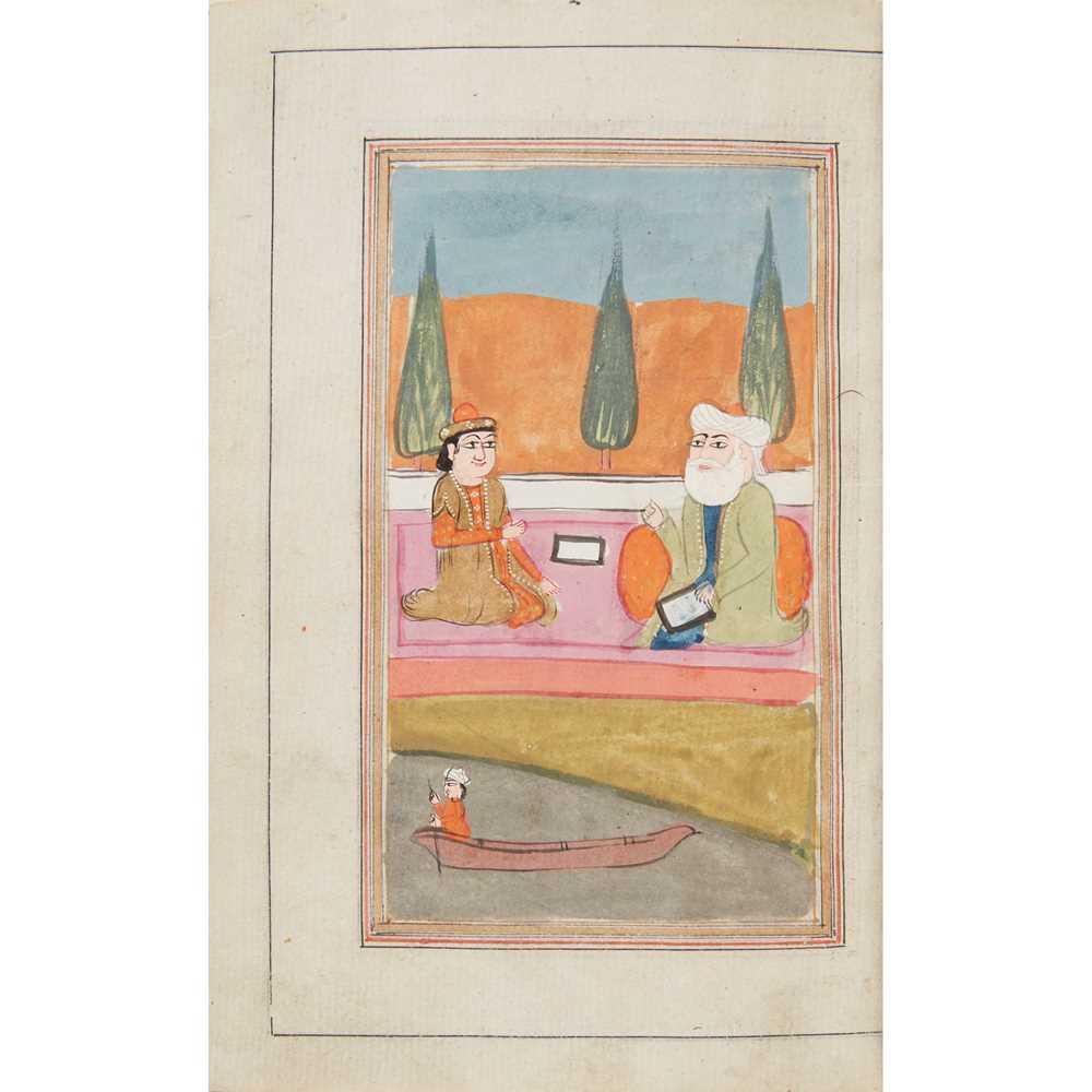 Hafez [Hafiz] [Xāja Shams-ud-Dīn Moḥammad Ḥāfeẓ-e Shīrāzī] Divān-e-Hafez - a 19th century Indian 341 - Image 3 of 3