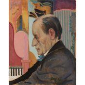 § WILLIAM CROSBIE R.S.A. (SCOTTISH 1915-1999) PORTRAIT OF HOROWITZ (THE COMPOSER)