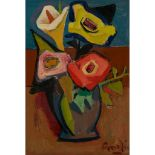 § WILLIAM CROSBIE R.S.A. (SCOTTISH 1915-1999) STILL LIFE WITH ROSES