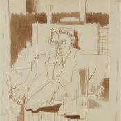 § WILLIAM CROSBIE R.S.A. (SCOTTISH 1915-1999) SEATED PORTRAIT
