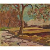 § SIR WILLIAM MACTAGGART P.R.S.A., R.A., F.R.S.E., R.S.W. (SCOTTISH 1903-1981) TREE ON A COUNTRY