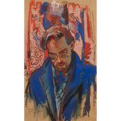 § WILLIAM CROSBIE R.S.A. (SCOTTISH 1915-1999) PORTRAIT OF CROMBIE SAUNDERS