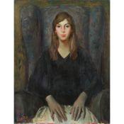 § WILLIAM CROSBIE R.S.A. (SCOTTISH 1915-1999) PORTRAIT OF PAULINE