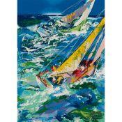 LEROY NEIMAN (AMERICAN b.1921-d.2012) HIGH SEAS SAILING