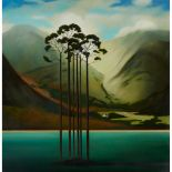 § LOUIS SINCLAIR MCNALLY (SCOTTISH 1963-) UNTITLED (LOCHSIDE COPSE OF TREES)