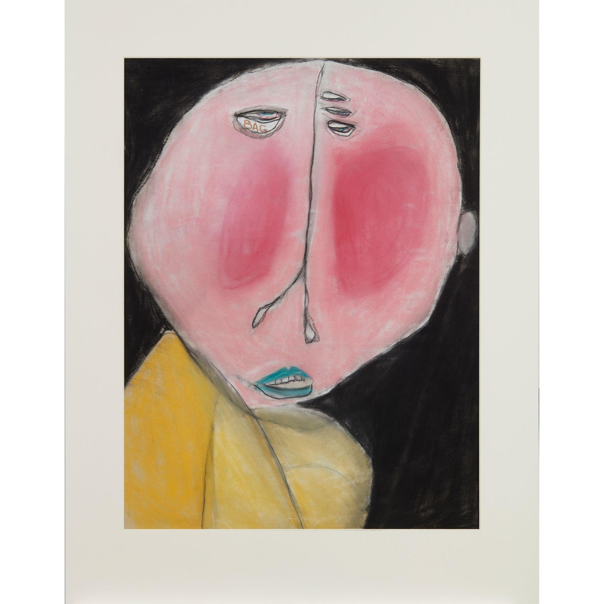 § PATRICIA DOUTHWAITE (SCOTTISH 1939-2002) EYE BAGS - Image 2 of 3