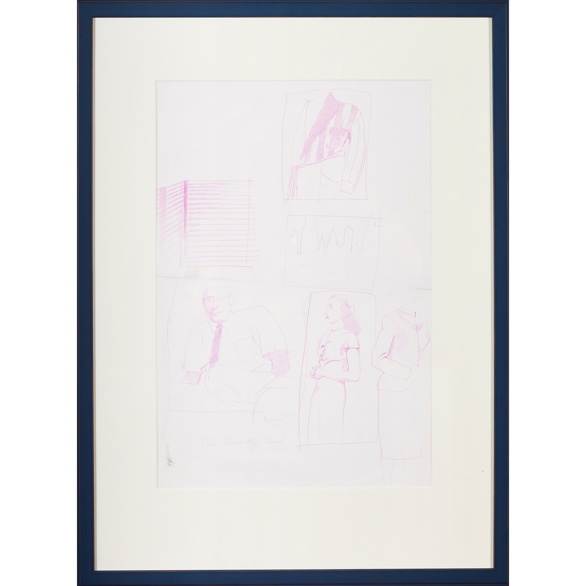 """§ JOHN BYRNE (SCOTTISH 1940-) SKETCHES FROM """"THE COUNTRY GIRL"""" - Image 6 of 7"""
