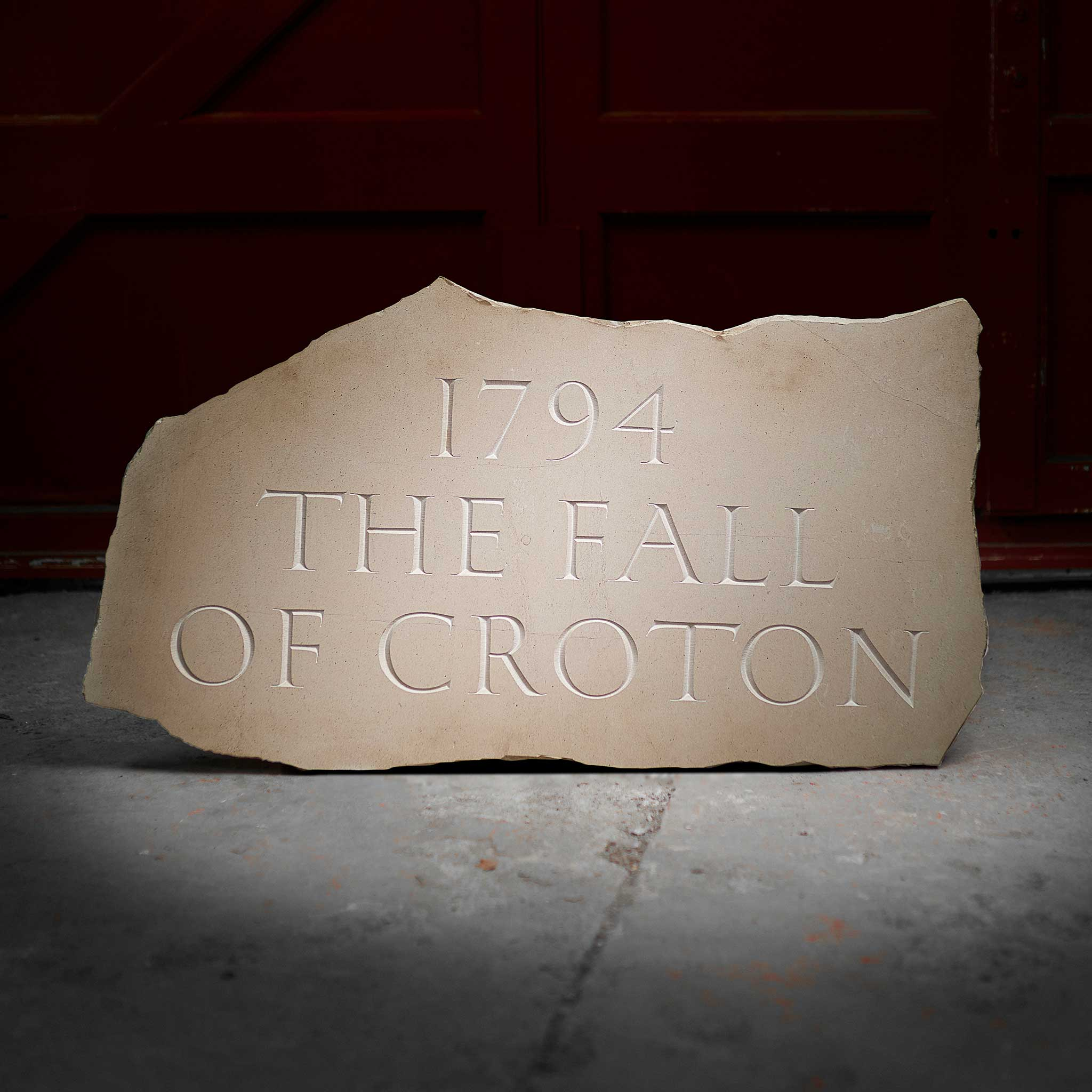 § IAN HAMILTON FINLAY (SCOTTISH 1925-2006) '1794 - THE FALL OF CROTON', 1994