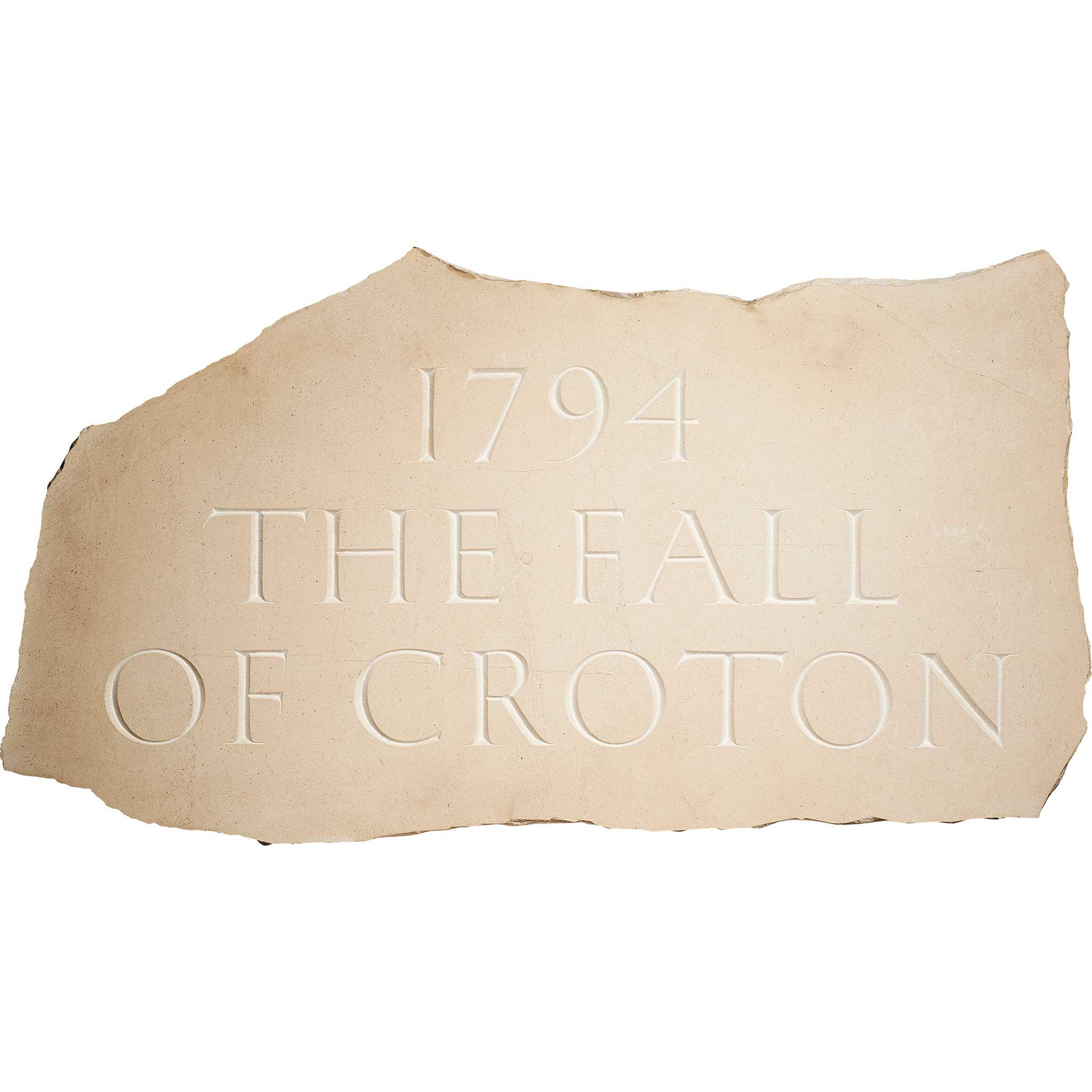 § IAN HAMILTON FINLAY (SCOTTISH 1925-2006) '1794 - THE FALL OF CROTON', 1994 - Image 2 of 3