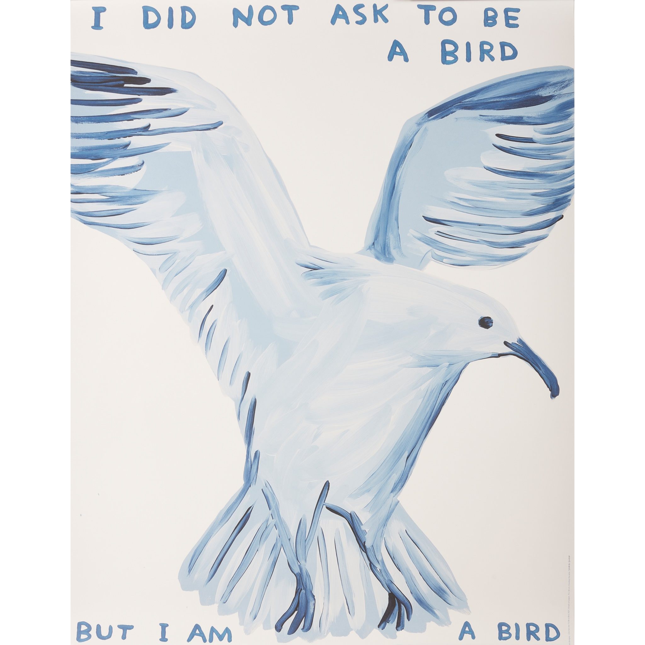 § DAVID SHRIGLEY O.B.E. (BRITISH 1968-) FOUR POSTERS (I DID NOT ASK TO BE A BIRD; PEOPLE EXPECT SO - Image 5 of 5