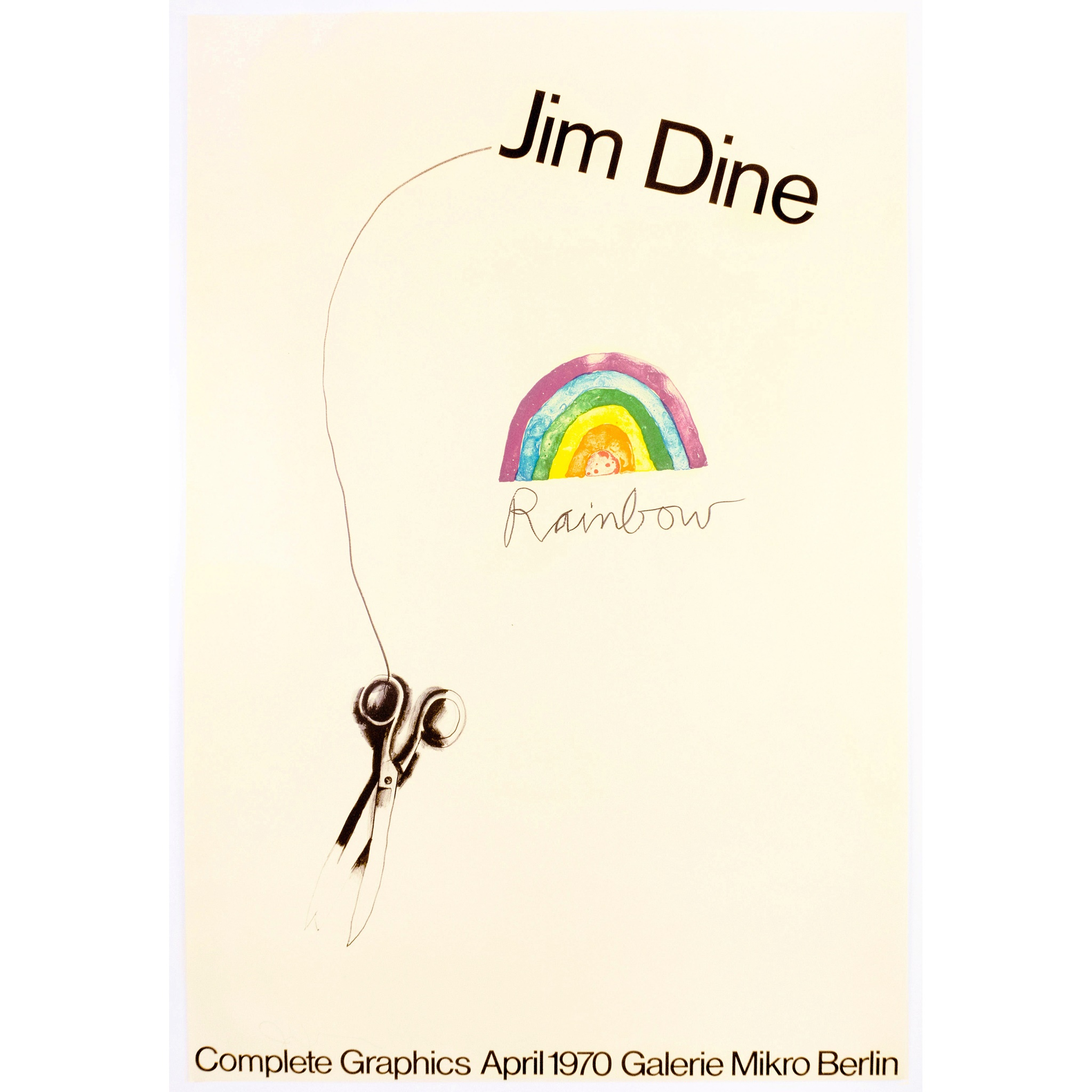 JIM DINE (AMERICAN 1935- ) GALERIE MIKRO, RAINBOW SCISSORS