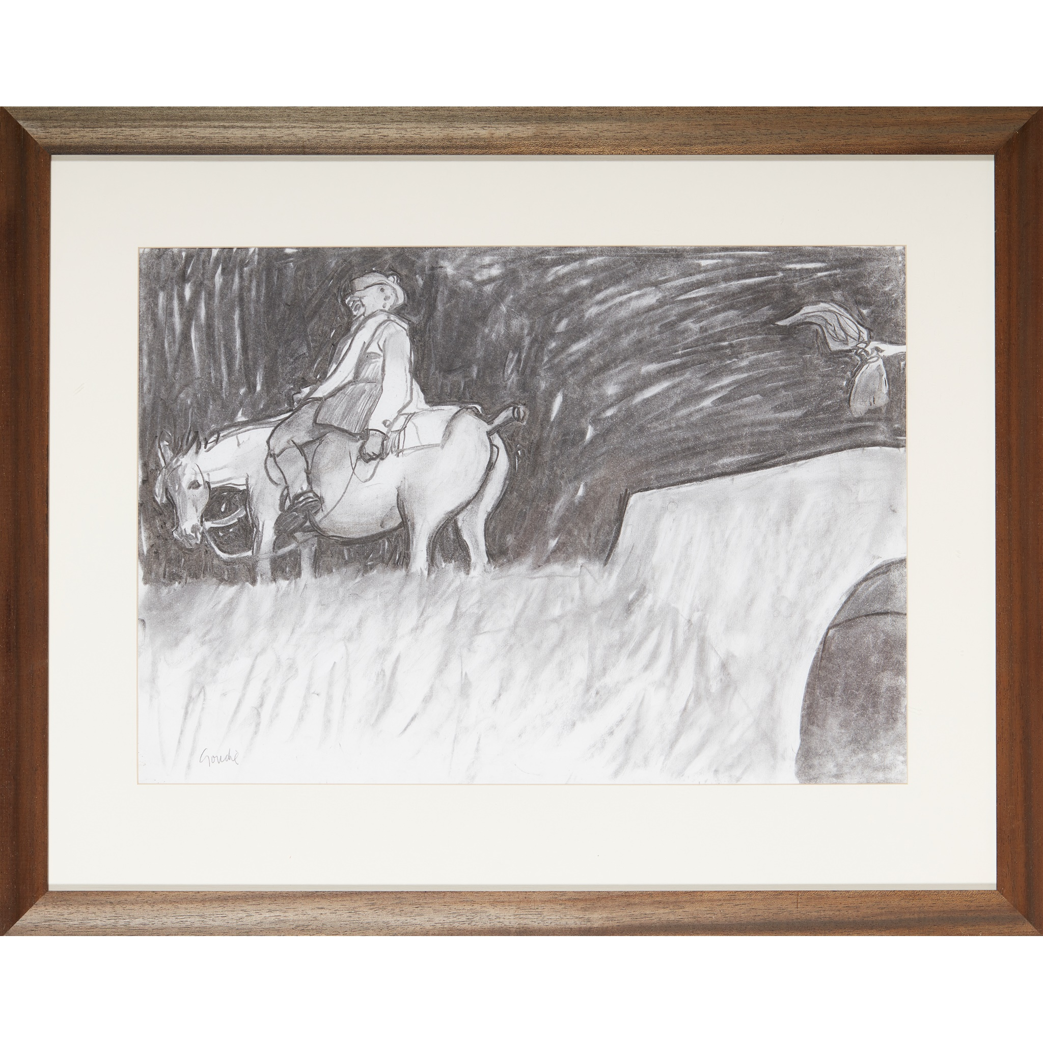 """§ ALEXANDER GOUDIE (SCOTTISH 1933-2004) """"BUT LEFT BEHIND HER AIN GRAY TAIL"""", SKETCH FOR TAM - Image 2 of 3"""