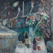 § DONALD MANSON (SCOTTISH 1948-) NIGHT WINDOW