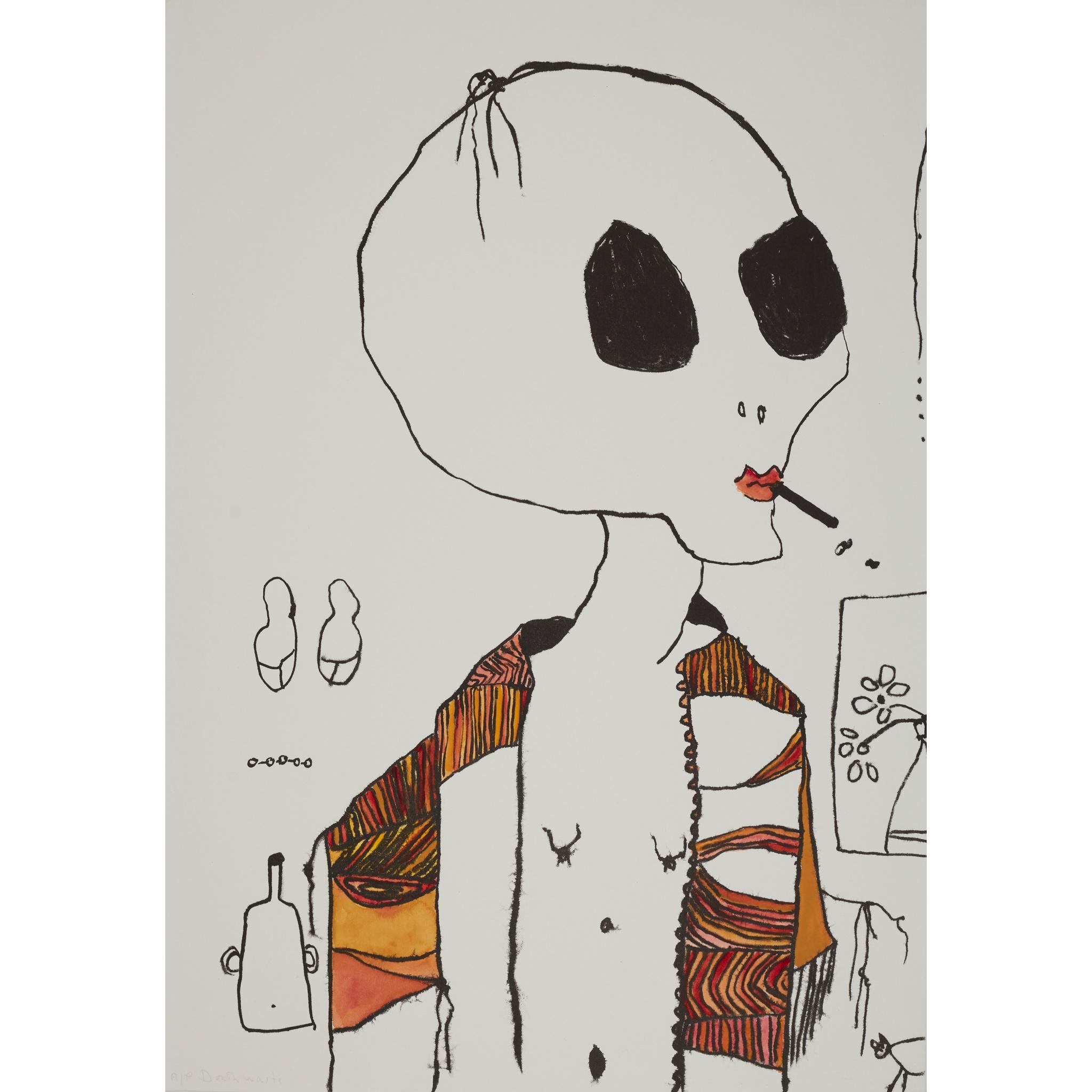 § PATRICIA DOUTHWAITE (SCOTTISH 1939-2002) SMOKER
