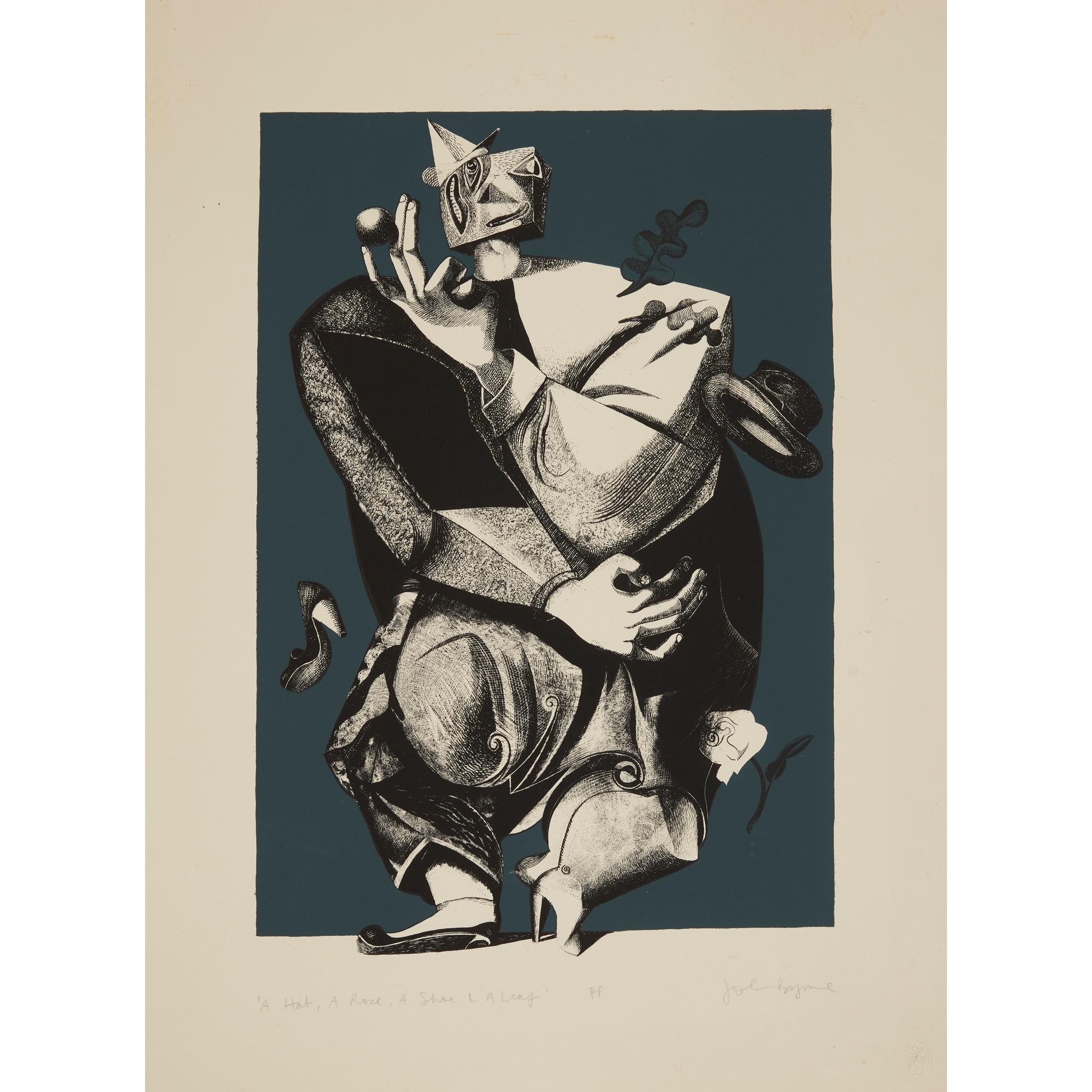 § JOHN BYRNE (SCOTTISH 1940-) A HAT, A ROSE, A SHOE AND A LEAF - 1999 - Image 2 of 2