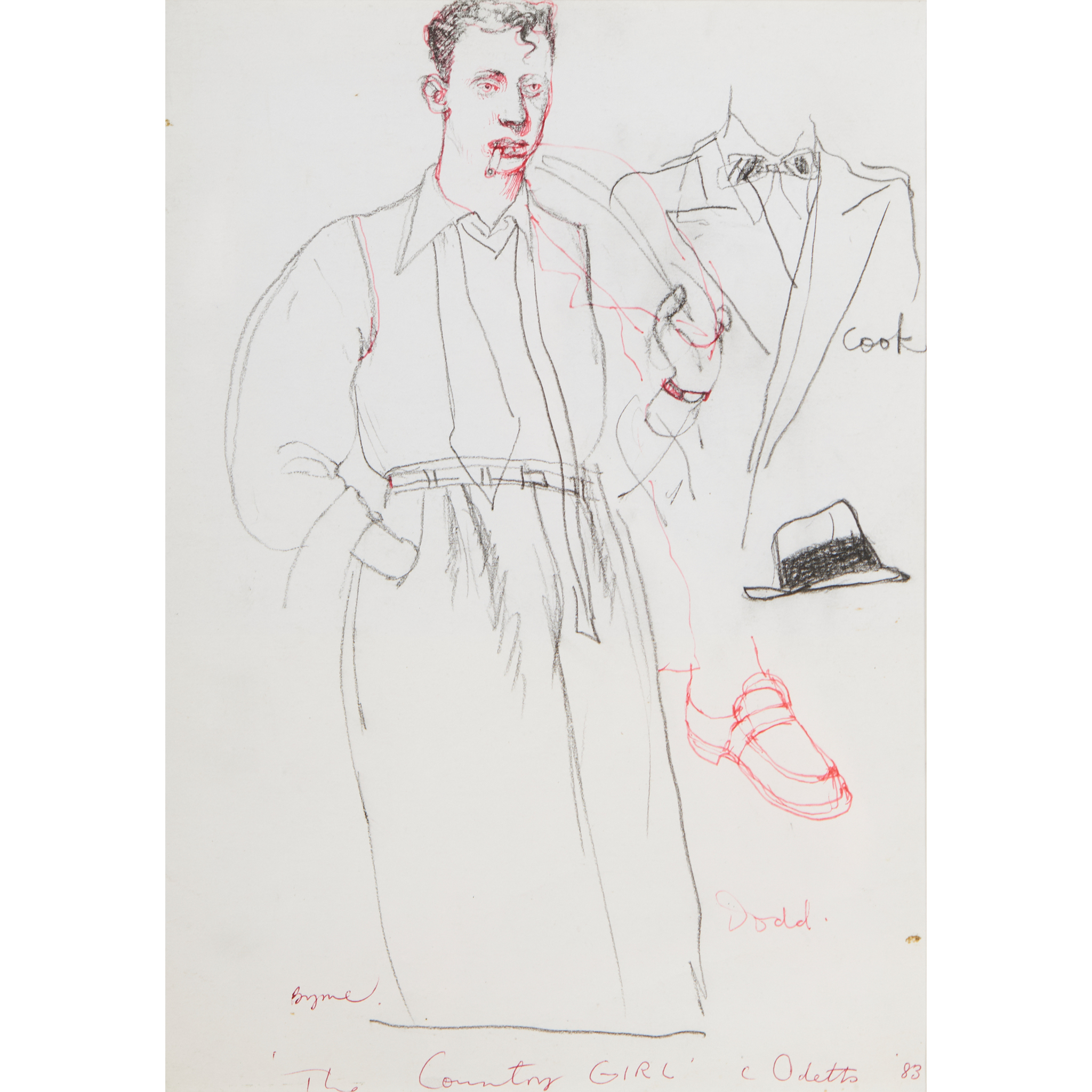 """§ JOHN BYRNE (SCOTTISH 1940-) SKETCHES FROM """"THE COUNTRY GIRL"""""""