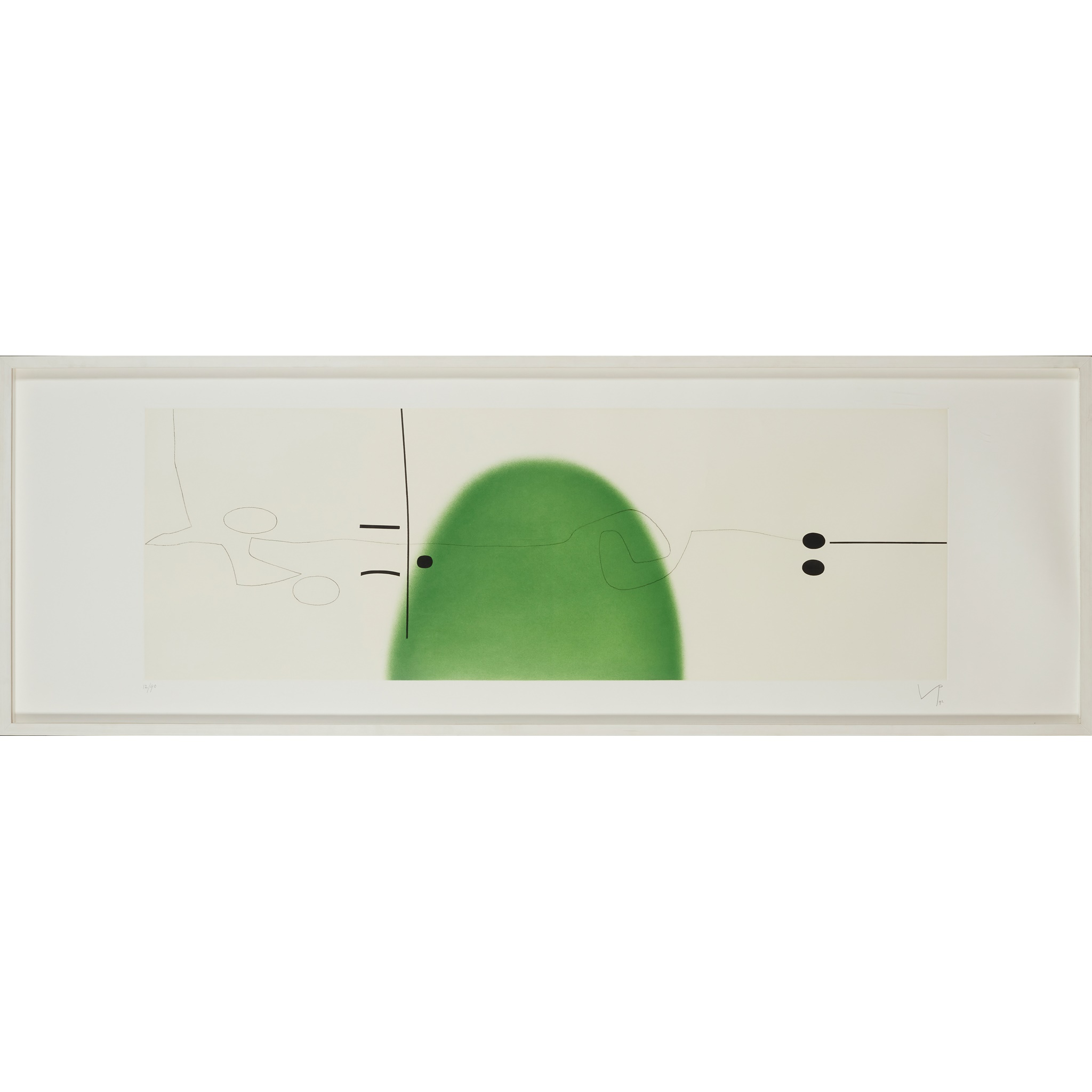 § VICTOR PASMORE C.B.E., C.H. (BRITISH 1908-1998) WORLD IN SPACE AND TIME II - 1992 - Image 2 of 3