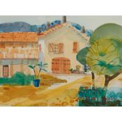 § GLEN SCOULLER R.S.W., R.G.I. (SCOTTISH 1950-) THE FARM HOUSE, SEILLANDS