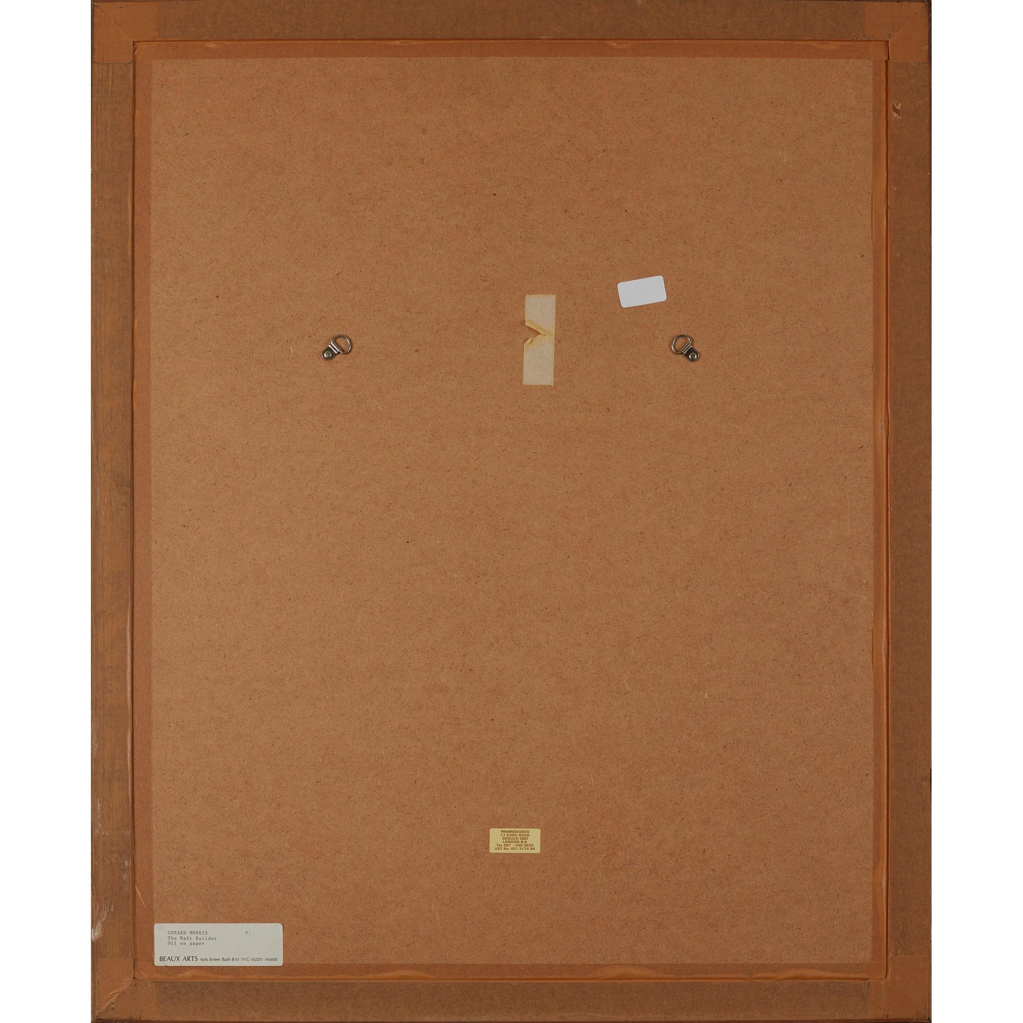 § GERARD MORRIS (SCOTTISH 1955-) THE RAFT BUILDER, 1991 - Image 3 of 3