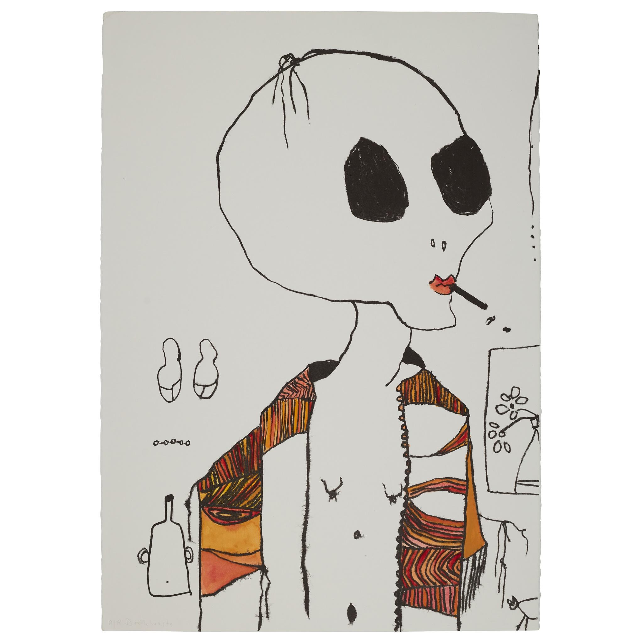 § PATRICIA DOUTHWAITE (SCOTTISH 1939-2002) SMOKER - Image 2 of 3