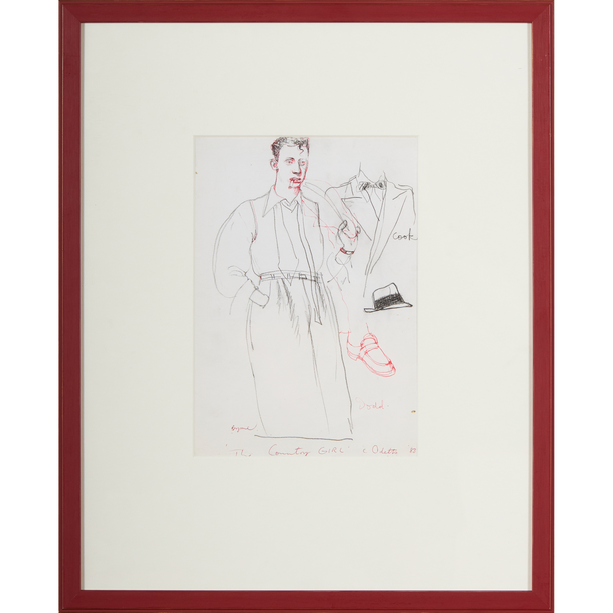 """§ JOHN BYRNE (SCOTTISH 1940-) SKETCHES FROM """"THE COUNTRY GIRL"""" - Image 2 of 7"""