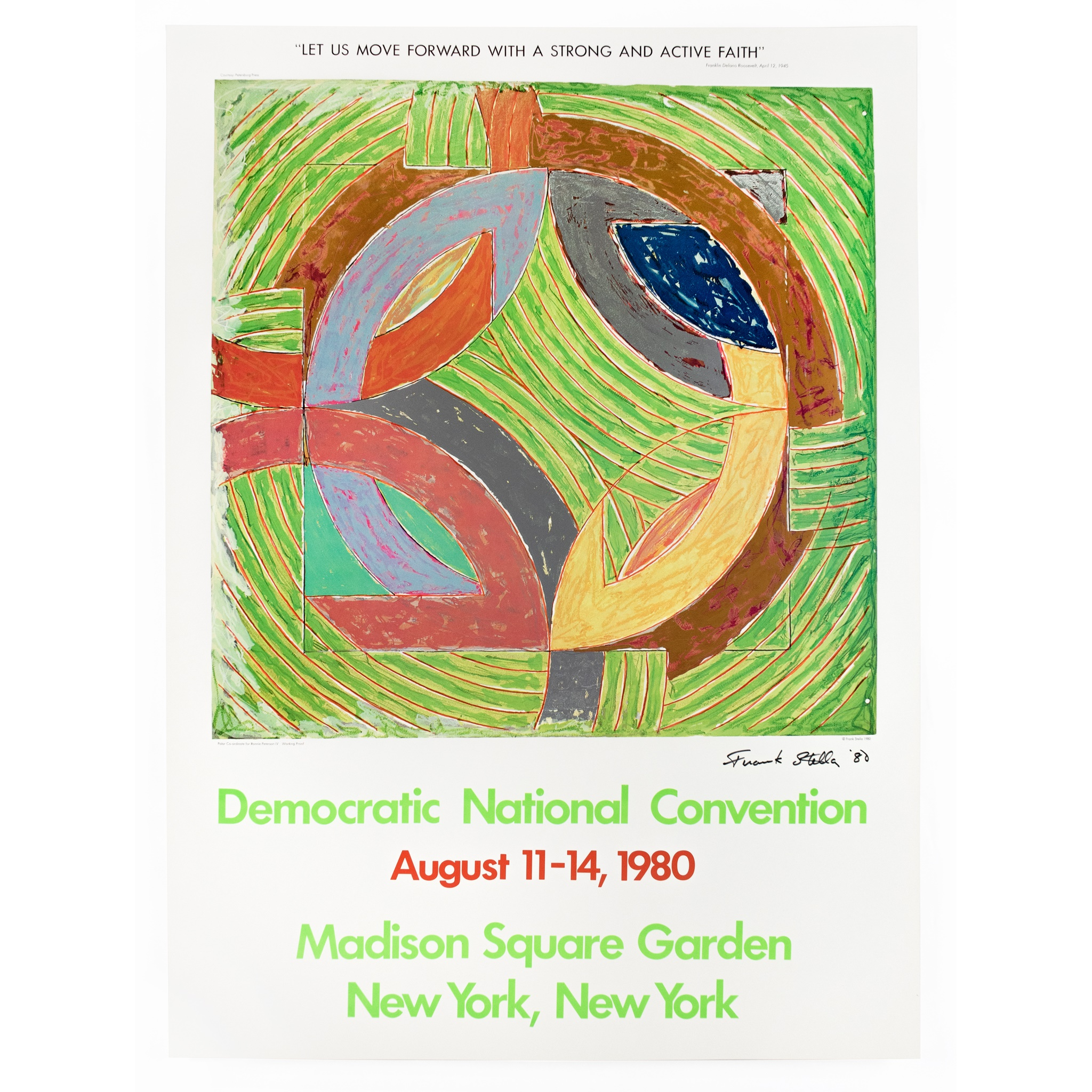 AFTER FRANK STELLA (American 1936- ) DEMOCRATIC NATIONAL CONVENTION, POLAR CO-ORDINATE IV