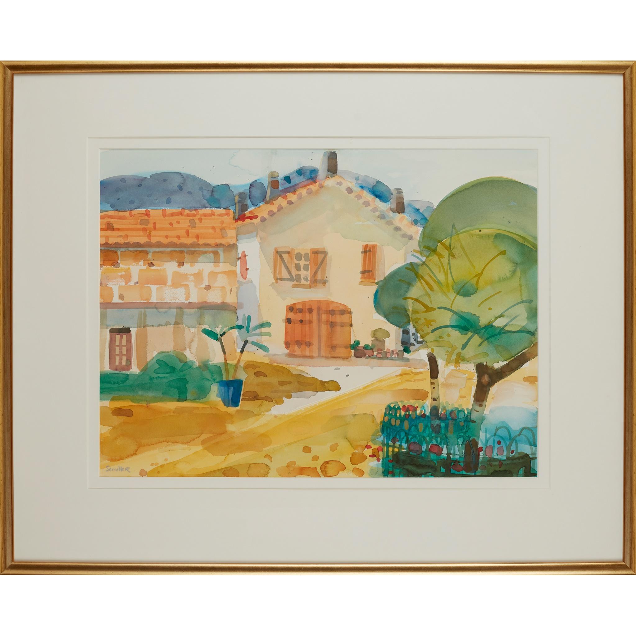 § GLEN SCOULLER R.S.W., R.G.I. (SCOTTISH 1950-) THE FARM HOUSE, SEILLANDS - Image 2 of 3
