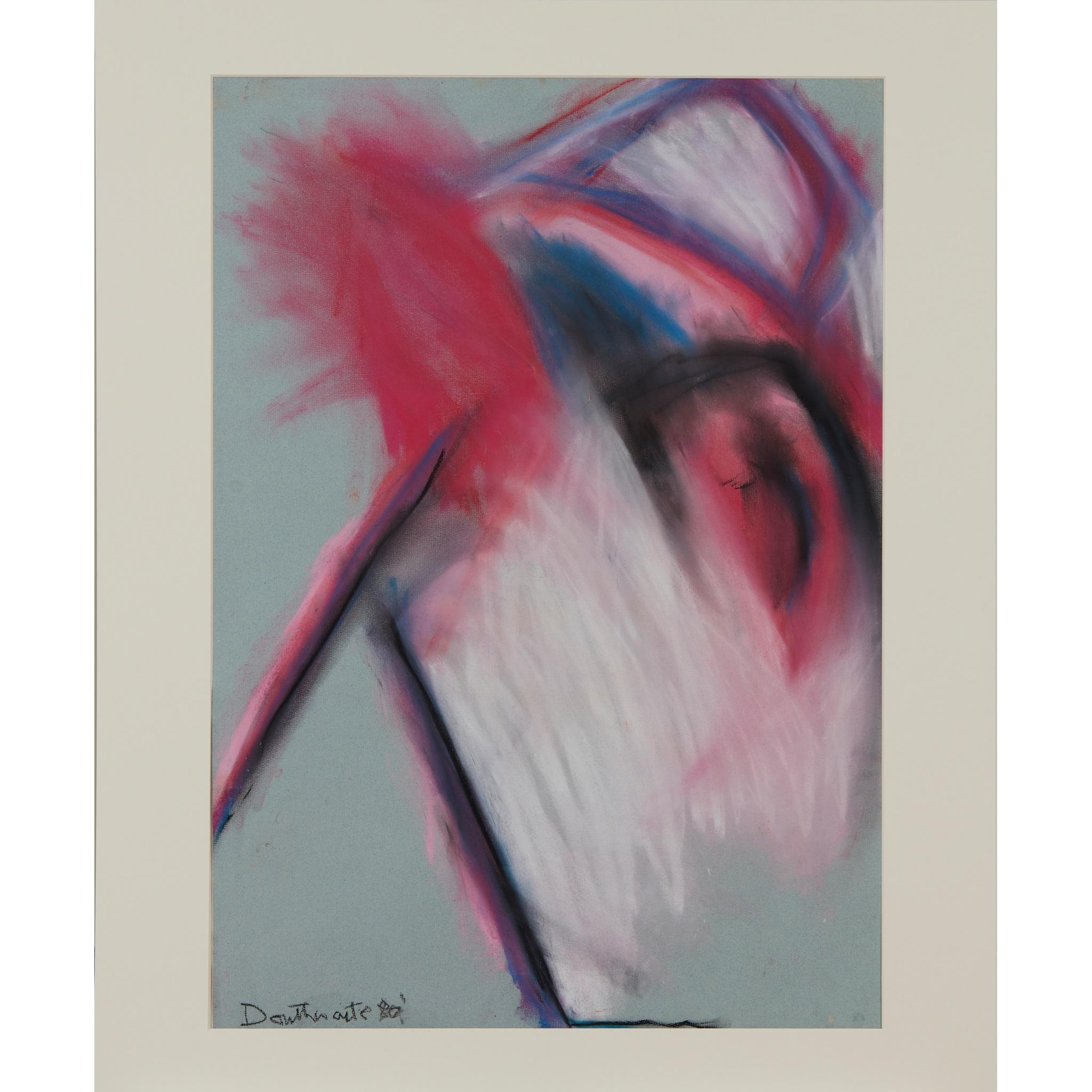 § PATRICIA DOUTHWAITE (SCOTTISH 1939-2002) UNTITLED (PINKS) - Image 2 of 2
