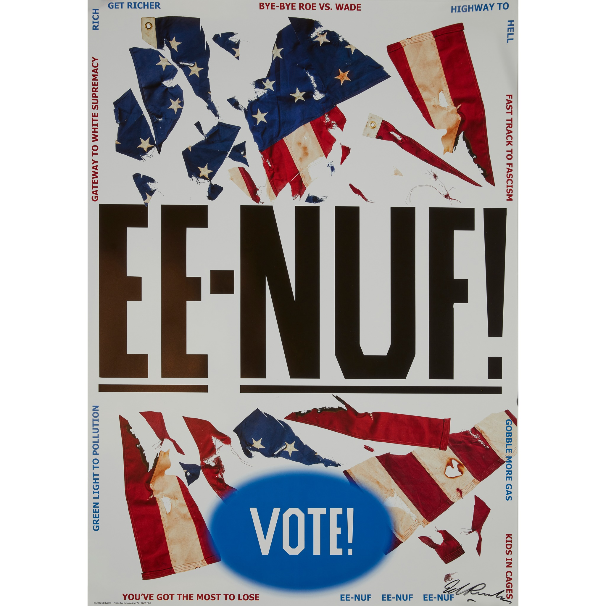 ED RUSCHA (AMERICAN 1937-) EE-NUF! - 2020