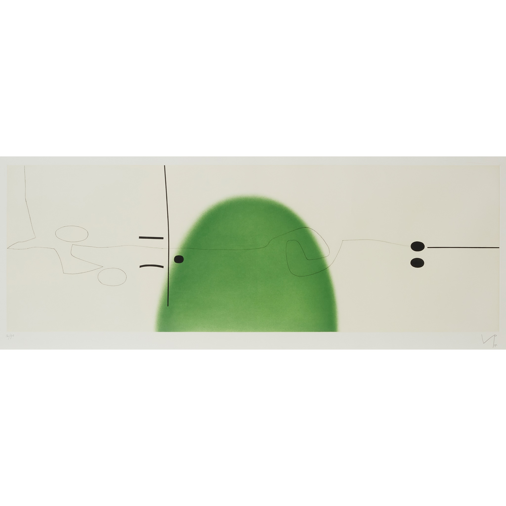 § VICTOR PASMORE C.B.E., C.H. (BRITISH 1908-1998) WORLD IN SPACE AND TIME II - 1992