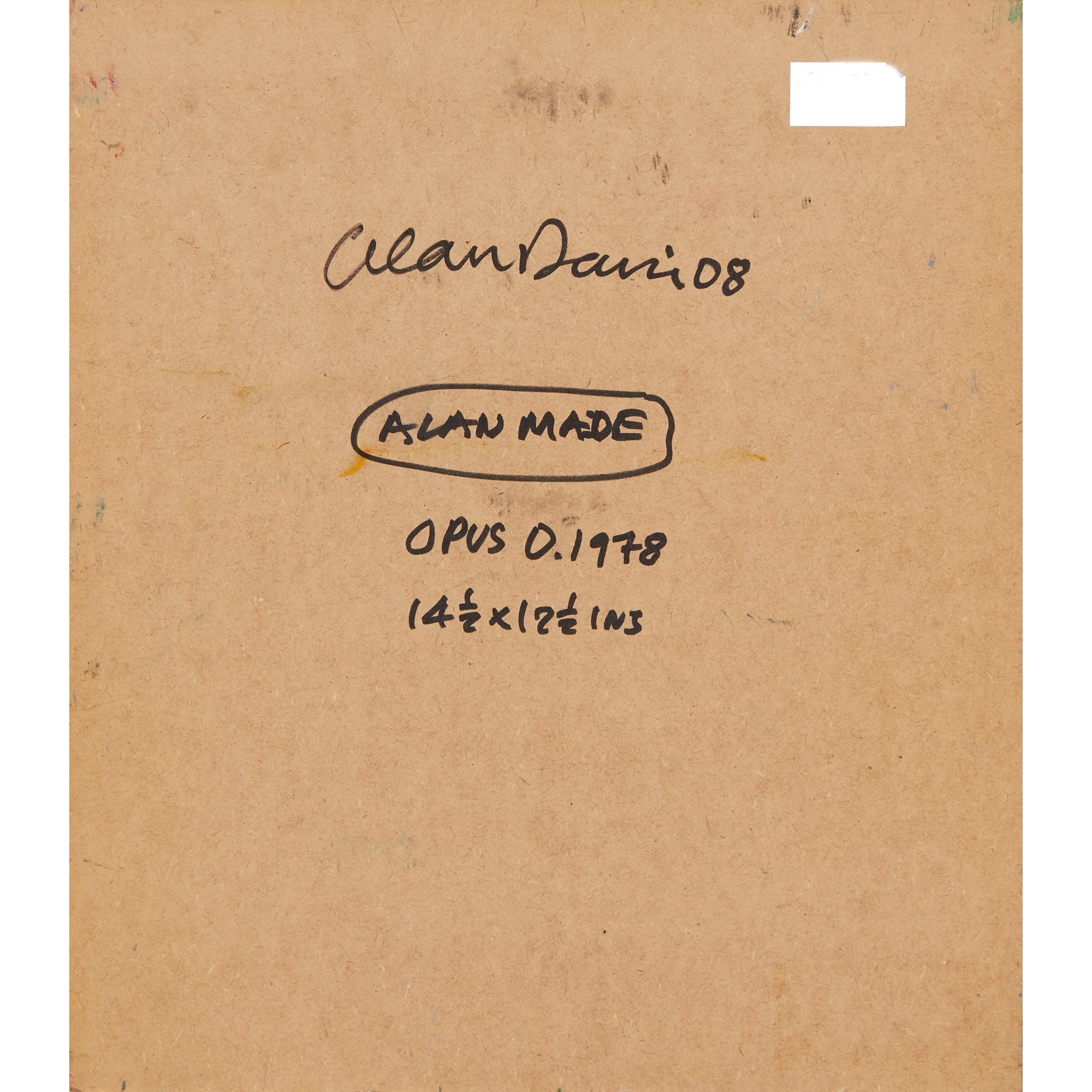 § ALAN DAVIE C.B.E., R.A., H.R.S.A. (BRITISH 1920-2014) ALAN MADE, 2008 - Image 2 of 2