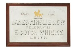 JAMES AINSLIE & CO., AN EDWARDIAN PUB MIRROR EARLY 20TH CENTURY