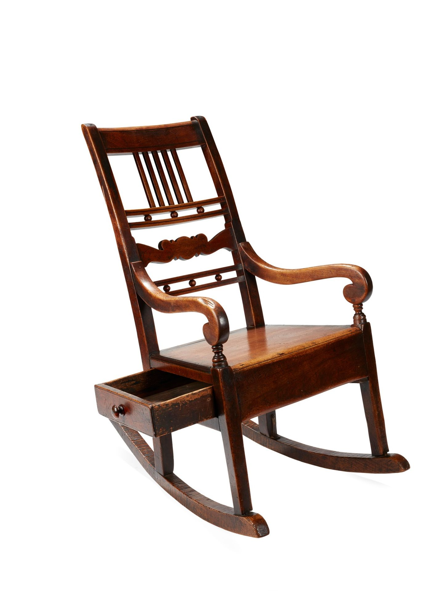 A SCOTTISH PROVINCIAL ROCKING CHAIR CIRCA 1850 - Image 2 of 2