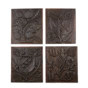 A GROUP OF FOUR CARVED PANELS MOST LIKELY EARLY 19TH CENTURY, POSSIBLY EARLIER
