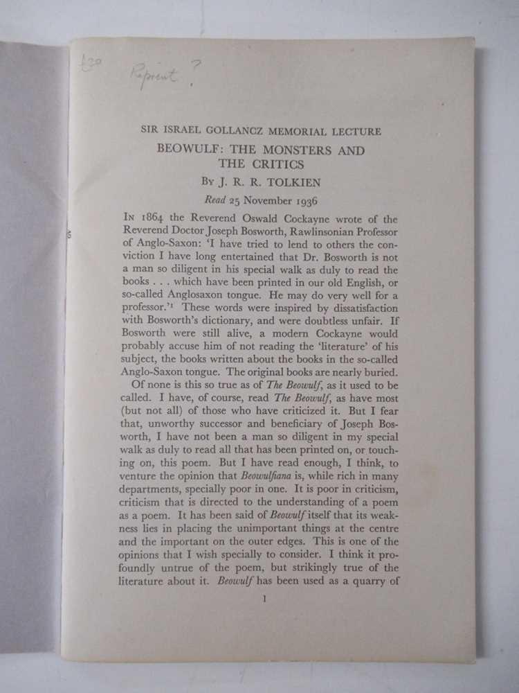 Tolkien, J.R.R. 6 volumes, comprising - Image 3 of 9