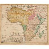 [Map of Africa] Sandrart, Jacob von Accuratissima Totius Africae