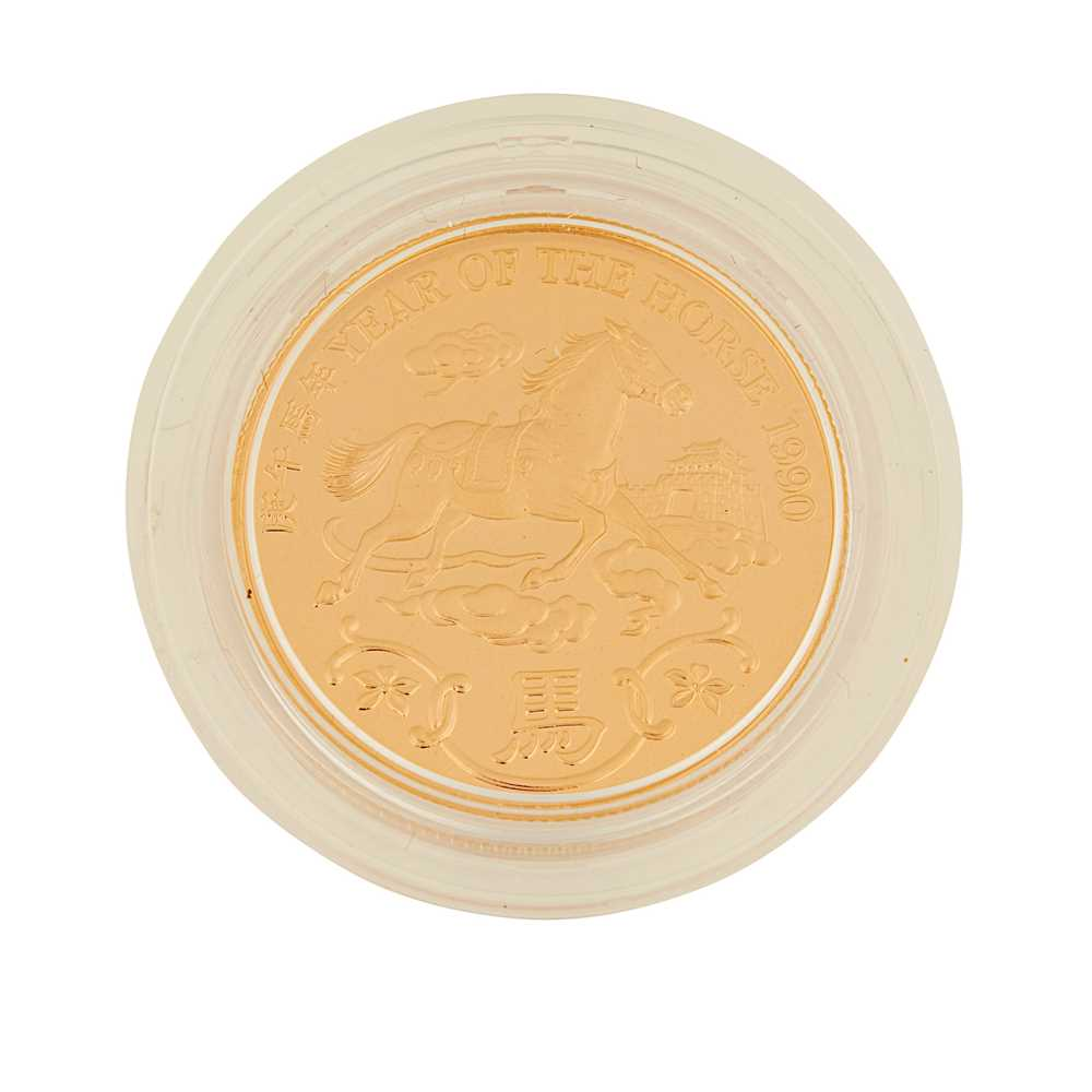 Hong Kong – A year of the Horse, 1990 proof gold medal