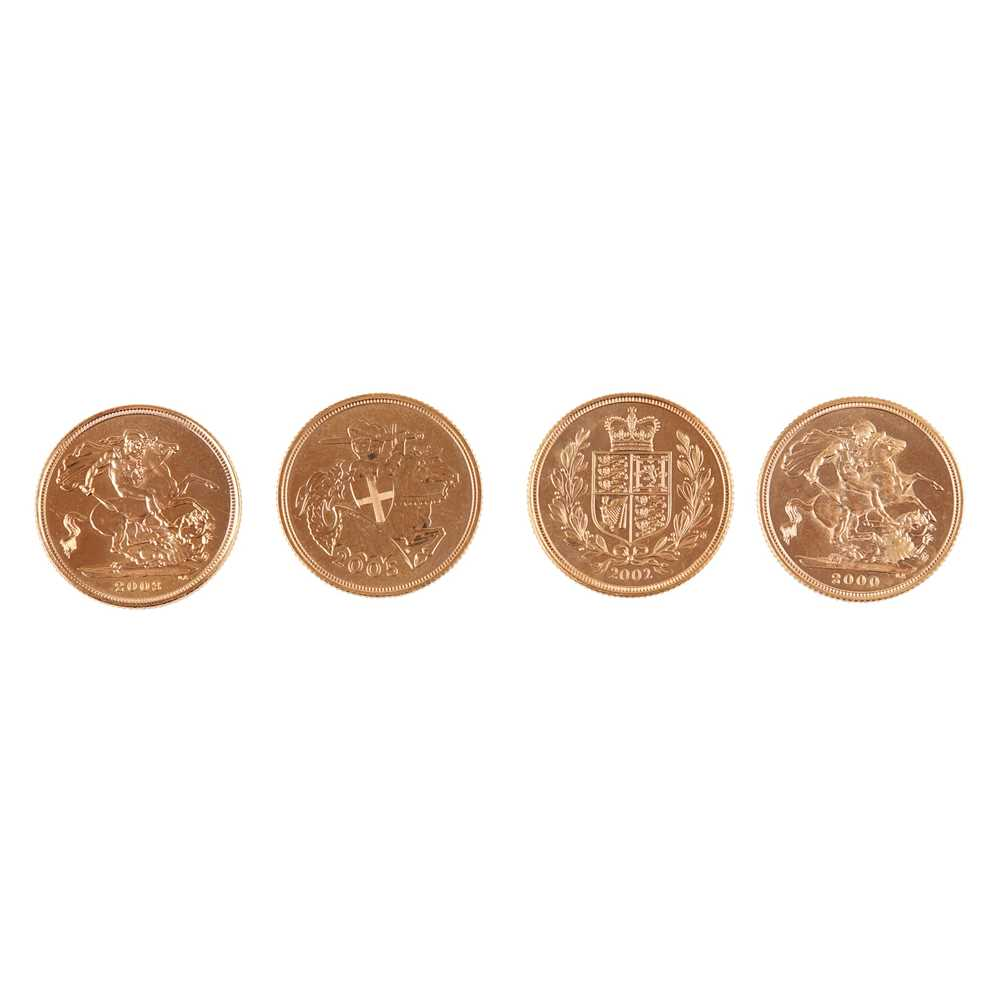 G.B - Four gold proof sovereigns - Image 2 of 2